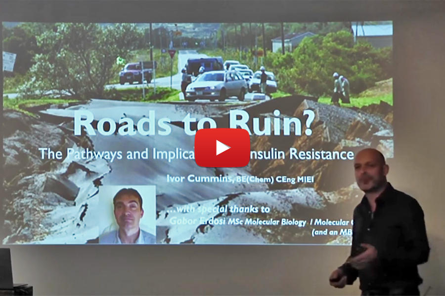 "Ivor Cummins: ""Roads to Ruin?"" The Pathways and Implications of Insulin Resistance"