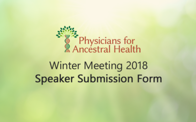 PAH Winter Meeting 2018: Speaker Submission Form
